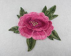 Apliques de flores bordado, coser sólo en