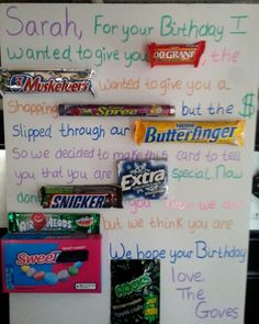 Candy gram birthday card | Kids | 16th birthday gifts ...