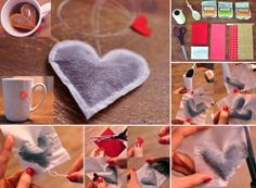DIY .... heart shaped tea bags