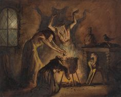 scribe4haxan:  Scene of Three Witches, 1840 ~ by George Cattermole…