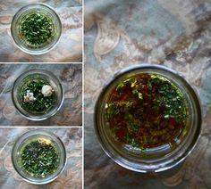 Greek Dressing  3 Tbsp Extra Virgin Olive Oil 2 Tbsp freshly squeezed lemon juice 2 Tbsp red wine vinegar 1.25 tsp fresh oregano, chopped 1.25 tsp fresh basil, chopped 1 small clove garlic (~1/2 tsp garlic paste) 1/2 tsp dijon mustard 1/4 tsp honey 1/2 tsp Himalayan Pink salt (substitute: sea salt) 1/8 tsp freshly ground black peppe