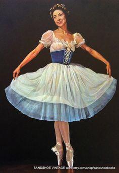 1950s Margot FONTEYN BALLERINA in GISELLE by sandshoevintageprint, $5.00