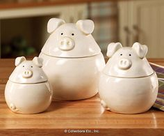 3PC Piglets Canister Set