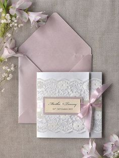 Dusty Pink wedding invitations
