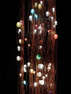 Bocci 28.280 colored glass ball chandelier at the V&A museum for London Design Festival 2013.Bocci 28.280 at the V&A