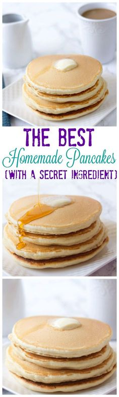 Homemade Pancake Mix with a secret ingredient. This homemade pancake mix will be the last recipe you ever use because they are amazing and easy to make!