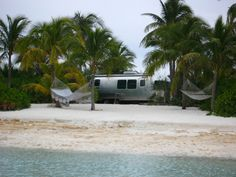 Lenny Kravitz lives in an Airstream in the Bahamas on his private beach.  Why didn't I think of that?
