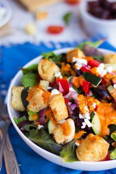Greek Pizza Salad | She Likes Food