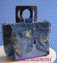 Borsa riciclo tasche jeans