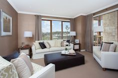 Stanten - Simonds Homes Simonds Homes, Living Spaces, Living Room, Relax, Curtains, Interior Design, Bed, Hallways, Furniture