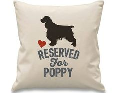 Reserved for cocker spaniel Personalised Cushions, Basset Hound, Cocker Spaniel, Dog Breeds, Personalized Gifts, Border Collie, Design, Bespoke, French Bulldog