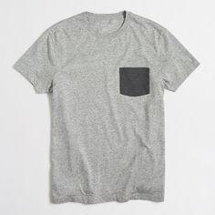 1ddb2c132a Factory tall slim contrast-pocket tee ($24.50) Short Sleeves, Short Sleeve  Tee