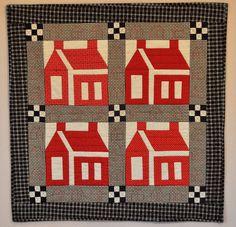 Dear little Schoolhouse quilt.