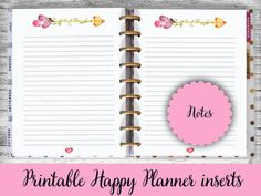 Happy Planner Printable Pages Notes Arrow Heart di EireenStickers