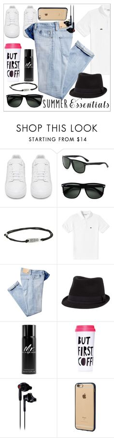 """""""Untitled #3"""" by re7m ❤ liked on Polyvore featuring Balenciaga, Ray-Ban, Alex and Ani, Lacoste, BKE, Burberry, ban.do, Under Armour, Incase and men's fashion"""