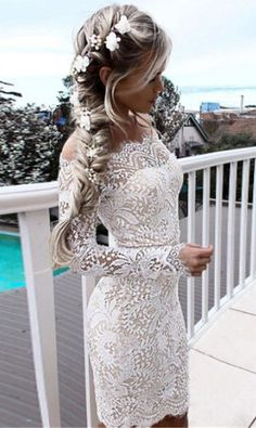 White vintage dress | Lace Outfits