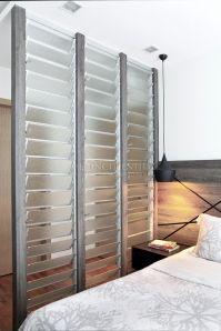 Interesting divider for master bedroom HDB BTO
