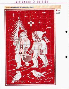 Punto croce - Schemi Gratis e Tutorial: Magico Rosso Natalizio