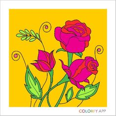 Another beautiful drawing from colorfy Coloring Book App, Colouring Pages, Adult Coloring, Flower App, Colorfy App, Blooming Rose, Beautiful Drawings, Colorful Drawings, Color Of Life