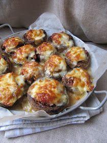 Après les champignons au Boursin et  les champignons farcis au jambon blanc et au comté , voici les champignons à l'italienne.           ...