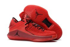 8d71ce6e2444d Jordans 2018 Release Air Jordan 32 Low Rosso Corsa Gym Red Black Sneaker  Outlet, Jordans