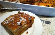 Baked Pumpkin Chocolate Chip French Toast - gluten free, dairy free