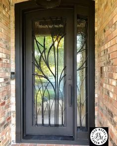 Modern Entry Door, Contemporary Front Doors, Entry Doors, Main Door Design, Entrance Design, House Entrance, Iron Front Door, Painted Front Doors, Double Doors Exterior