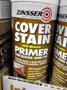 A spray primer for re-painting furniture without sanding!