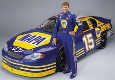 This was the first NAPA car, who knew that in just in the first race of Michael Waltrip would win the Daytona but would lose his friend and boss, Dale Earnhardt Nascar Race Cars, Old Race Cars, Le Mans, Course Nascar, Jaguar, Monster Cup, Michael Waltrip, Daytona 500, The Other Guys