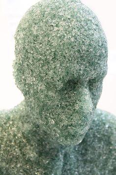 Broken glass scuptures by Daniel Arsham