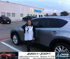 #HappyAnniversary to Graciela Ramirez on your new car from James Cole at Mazda of Mesquite!