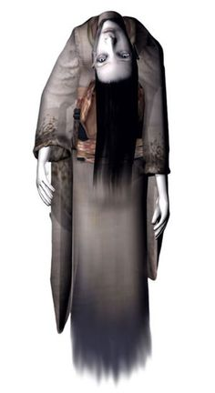 View an image titled 'Broken Neck Woman Art' in our Fatal Frame art gallery featuring official character designs, concept art, and promo pictures. Fatal Frame, Scariest Video Games, Light Vs Dark, Studio Ghibli Characters, Japanese Horror, Scary Games, Best Horrors, Inspirational Artwork, Environment Design