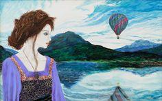 GIRL AT A BAY | 93 x 59 cm | Acrylic and Oil Painting on Hardboard | by Krzysztof Polaczenko ® 2014