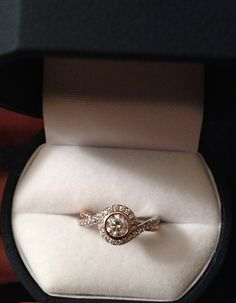 My engagement ring! Rose gold & white gold!