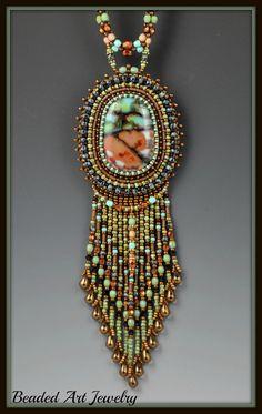 Bead Embroidery Beadwork Beadwoven and Fused by beadedartjewelry, $278.00
