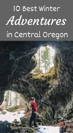 These winter adventure ideas for Central Oregon are incredible. From hiking to cave exploration to hot springs! These winter adventure ideas for Central Oregon are incredible. From hiking to cave exploration to hot springs! Oregon Map, Oregon Road Trip, Oregon Travel, Oregon Coast, Oregon Vacation, Portland Oregon, Oregon Hiking, Salem Oregon, Winter Hiking