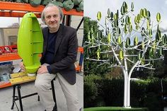 The wind turbine for your backyard. Wind Tree uses tiny silent blades to generate electricity from light breezes. Aeroleaves generate electricity in wind Digital Technology, Science And Technology, Solar Energy, Solar Power, Protection Spells, Money Spells, Sustainable Energy, Wind Power, Life Hacks