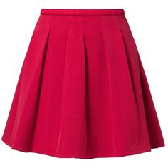 NAF NAF Pleated skirt ($67) ❤ liked on Polyvore featuring skirts, saias, bottoms, faldas, red, pleated skirt, pink skirt, red pleated skirt, knee length pleated skirt and pleated mid length skirt