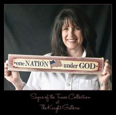 One Nation Under God Plaque by TheKnightGallerie on Etsy
