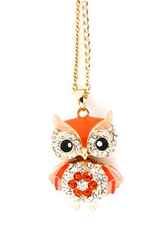 https://www.bkgjewelry.com/ruby-rings/200-18k-yellow-gold-diamond-ruby-cocktail-ring.html Fiery Crystal Owl Pendant | Awesome Selection of Chic Fashion Jewelry | Emma Stine Limited