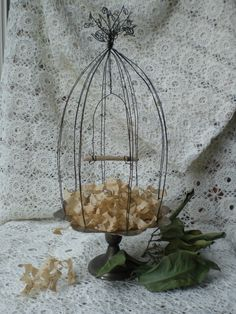 Great birdcage tutorial using old metal plate.  http://todolwen.blogspot.ca/search/label/bird%20cage
