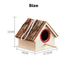 Creative Bird Nest Simulated Bark House Shape Bird Breeding Box Pet Toys Bird Cages, Pet Toys, Pet Supplies, Nest, Shapes, Box, Creative, Outdoor Decor, House