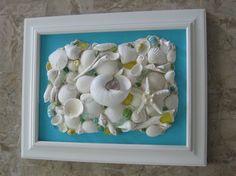 Original Framed Seashell Collage  Caribbean by seasideshells, $55.00