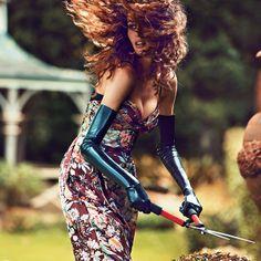 beauty wears latex opera gloves in the garden The Brunette, Long Gloves, Domestic Goddess, Australian Models, Latex Fashion, Gloves Fashion, Editorial Fashion, Lingerie Editorial, Fashion Photography