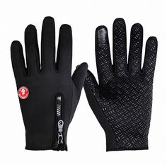 Winter Bike Motor Ride Anti - Slip Full Finger Touch Screen & Gym Black Gloves WSW#BST-004 WOSAWE outdoor indoor cycling protective gear