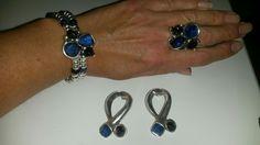 Conjunto pulsera, anillo y pendientes