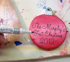 Personalized Christmas Ornament - Crafts by Amanda
