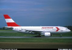 Austrian Airlines Airbus A310-324 Airbus A310, Austrian Airlines, Civil Aviation, Commercial Aircraft, World Pictures, Aircraft Pictures, Private Jet, Air Show, Military
