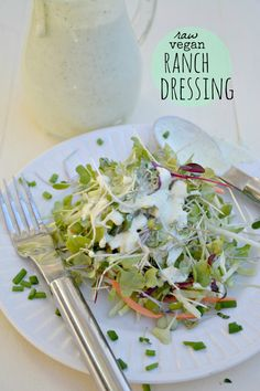 Non-Dairy Ranch Dressing (Raw vegan, gluten, egg, soy and dairy-free)