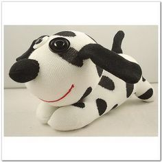 Black and White Sock Dog Toddler Christmas Gifts, Handmade Christmas Gifts, Sock Bunny, Sock Puppets, Sock Toys, Baby Crafts, Kids Crafts, Fabric Toys, Sock Animals